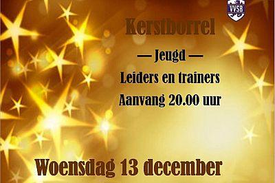 Vanavond Kerstborrel Jeugd leiders en trainers