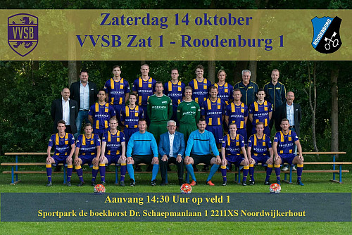 Thuiswedstrijd Zaterdag 1 tegen Roodenburg 1