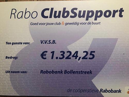 VVSB BEDANKT DE RABOBANK EN HAAR LEDEN