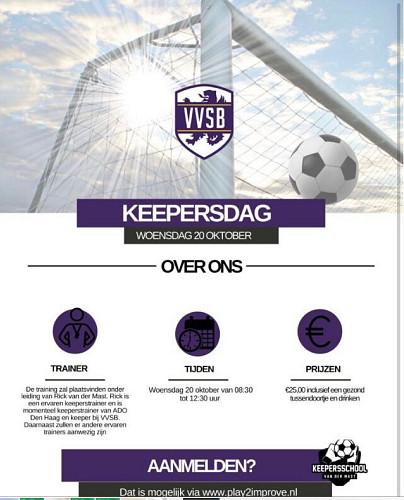 20 oktober 2021 Keepersdag bij VVSB
